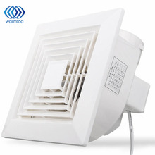 White 32W 220V Ventilation Extractor Exhaust Fan Blower Window Wall Kitchen Bathroom Toilet Fan Hole Size 160x160mm
