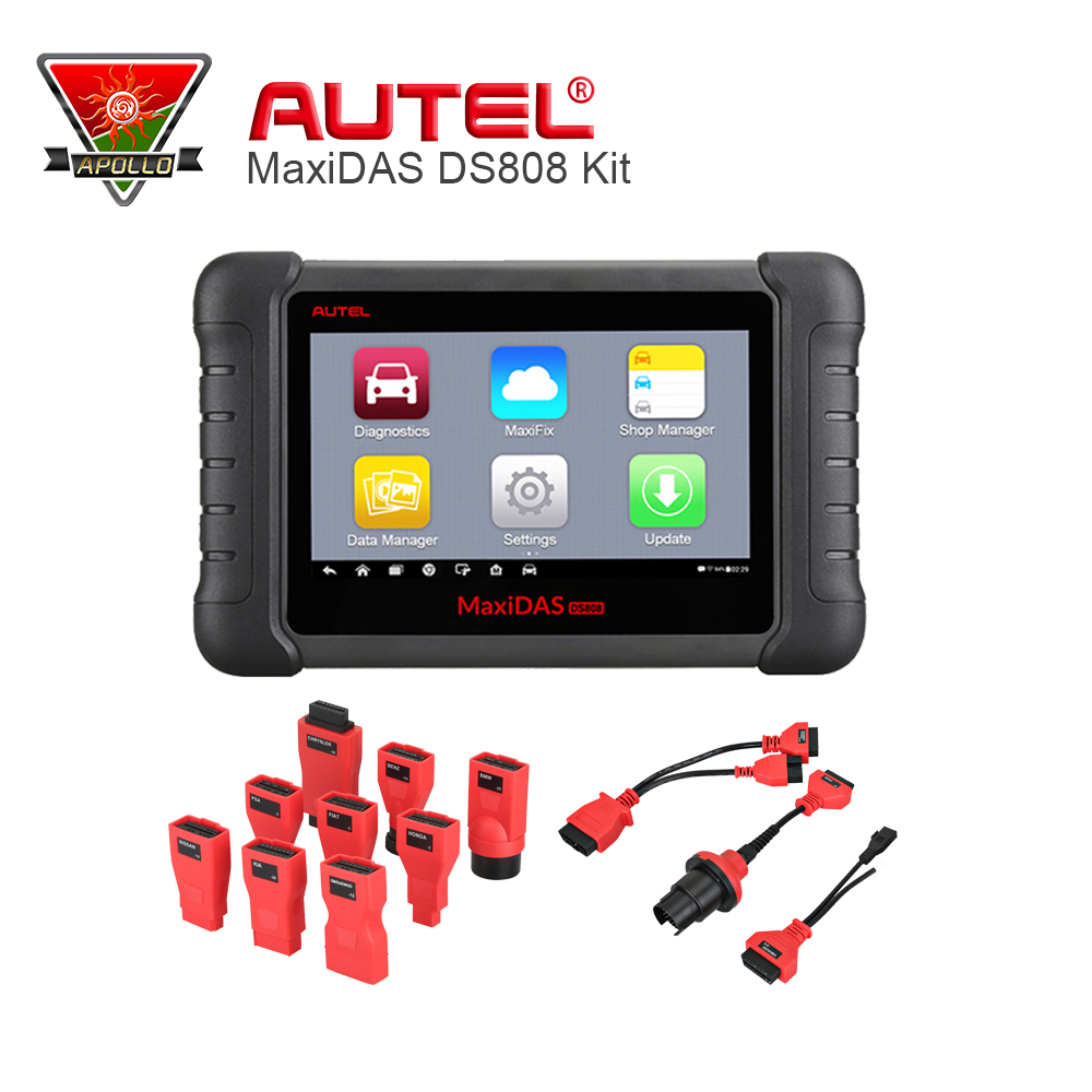 Autel MAXIDAS DS808 Automotive Scanner Full Set OBDII OBD 2 Bluetooth With OBDI Connetor As like DS708(China (Mainland))