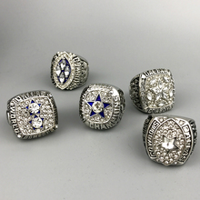 Fast delivery for US businessman 1971/1977/1992/1993/1995 super bowl silver Dallas Cowboys Championship Ring full set(China)