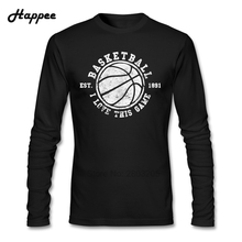 Graphic Men T-shirts Basket ball I Love This Game 1891 Vintage Look Retro Tee Shirt Long Sleeve 100% Cotton T Shirts For TeenBoy