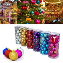 Christmas decoration 24 Pcs Christmas Ornament Christmas Ball Christmas Baubles Ornament Ball Party Home New Year decoration 8Z(China)
