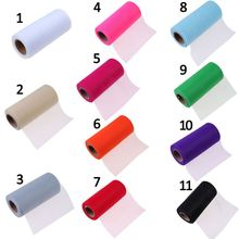 Tulle Roll 15cm 25 Yards Roll Fabric Spool Party Gift Wrap Wedding Birthday Decoration Decorative Crafts Supplies