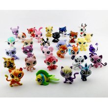 10pcs/set 5-6cm Bigger Original LPS Little Pet Shop Toys Littlest Cartoon Animal Loose Action Figures Collection Kids Gifts
