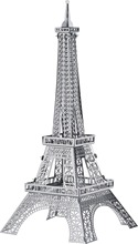 Brinquedos para as crian 2015 New Eiffel Tower Construction 3D Nano metal DIY Puzzle board games for children Birthday gift(China)
