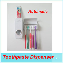 3pcs/lot, Automatic Toothpaste Dispenser, Family Toothbrush Holder set , Bathroom set free shipping