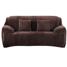 Urijk 1PC Flannel Slipcovers Sofa Covers For Living Room Stretch Furniture Covers Loveseat One Two Three Four Seats Sofa Cover
