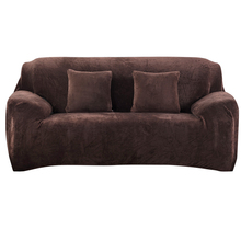 Urijk 1PC Flannel Slipcovers Sofa Covers For Living Room Stretch Furniture Covers Loveseat One Two Three Four Seats Sofa Cover(China)