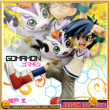 "Japanese Anime ""Digimon Adventure"" Original MegaHouse G.E.M. Series 1/10 Complete Figure - Joe Kido & Gomamon"