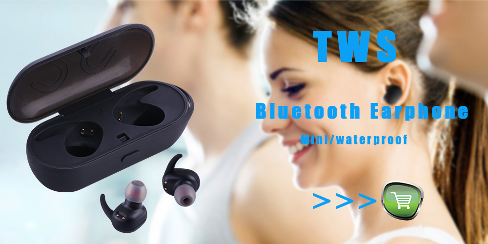 TOOBUKK S2 Portable Mini TWS Wireless Waterproof Bluetooth Earphone In-ear Stereo Handsfree Sport Headset For Phone Earbuds