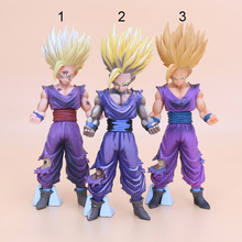 New 20cm PVC Anime Dragon Ball Z Action Figures Master Stars Piece The Son Gohan Super Saiyan pvc figure children toy(China)