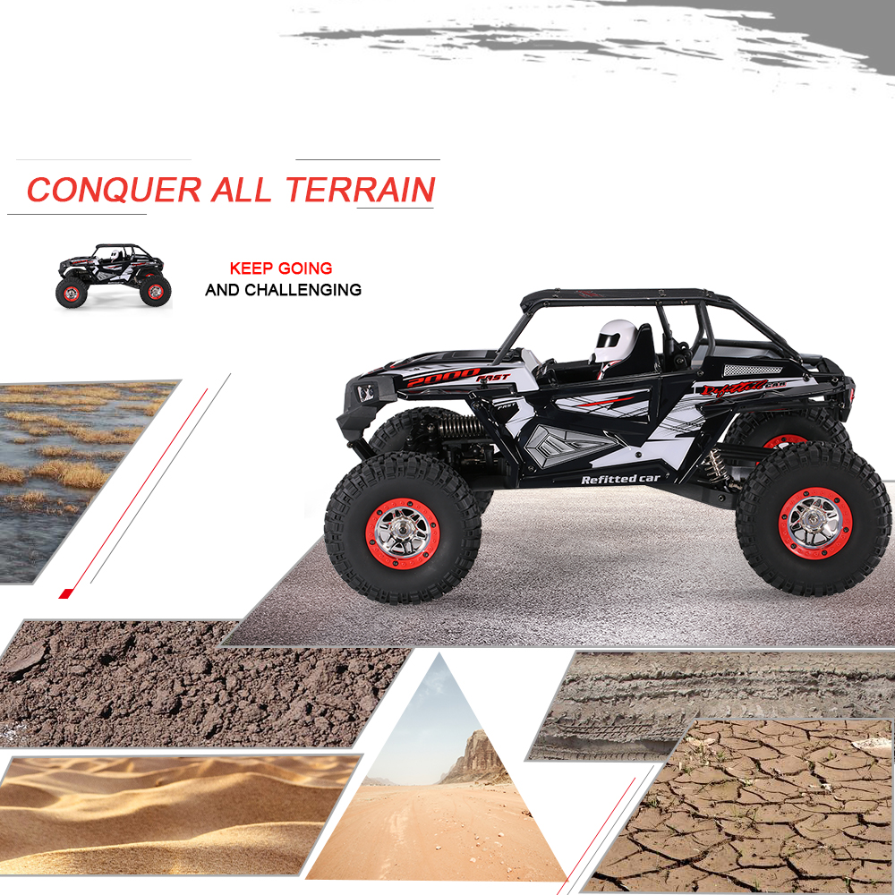 Cool Remote Control Climbing Car SUV 10428-B2 110 2.4G 4WD Electronic Rock Crawler Off-Road Buggy Desert Baja RC Cars RTR (2)