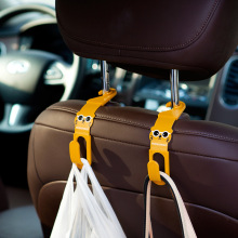 2Pcs Cartoon Car Back Seat Headrest Hanger Holder Hooks For Bag Purse Cloth Grocer Auto Fastener Car Back Seat Clip Clasp