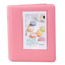 Mini Photo Album 64 Slots for Fujifilm Instax Mini Film Mini 8 7s 25 50s 90 Camera-coral pink(China)