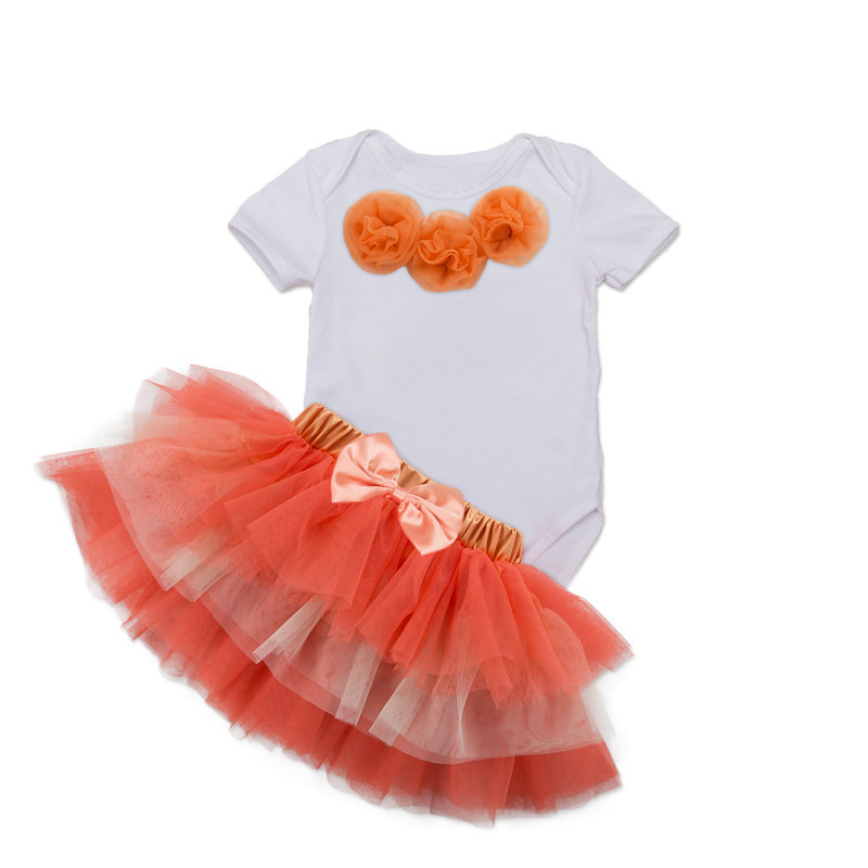 Tutu Baby Birthday Set Summer Short Sleeve Roupas Infantis Bebes 1st Birthday Outfit+Tutu Pettiskirt Dress Party Clothing Sets 14