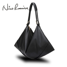 Large Slight Women Hobo Leather Shoulder Bag Fashion Big Casual Black Leisure Shopping Bags Sac A Main Femme De Marque Bolsa