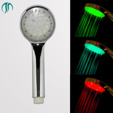 Showerhead LED With Shower Holder Ducha Douche Sanitary Engineering Rainshower LED Shower Bathroom Waterfall Led Shower Heads(China)