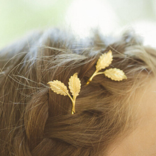 Timlee H110 Free shipping Grace Fashion Cute Leaf Hair Clip Barrettes Girls Lovely Hair Accessary Gift(China)
