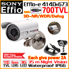 "Sale With Bracket 1/3""Sony Ccd Effio-e Real 700TVL HD Cctv Camera Osd Surveillance Products Infrared 35m Outdoor Waterproof Ip66(China)"