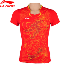 Buy Li-Ning Women Shirt Table Tennis Sport T-Shirt Quick Dry Fitness Comfort Competition Badminton Li Ning Sports T-Shirt AAYM066 for $32.49 in AliExpress store