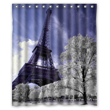 Cool Scenery Eiffel Tower Custom Made Unique Waterproof Shower Curtain Bathroom products Curtains 48x72, 60x72, 66x 72 inches