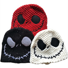 the Night Before Christmas Jack Skellington Skull Laplander Beanies Cap Adult Children Kid Winter Warm Hat 3 style can choose(China)