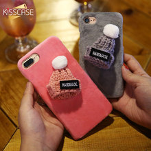 KISSCASE Christmas Hat Phone Case For iPhone 7 8 Plus Case Cute Christmas Girly Gift Cover For iPhone 6 6S Plus iPhone 5s SE(China)