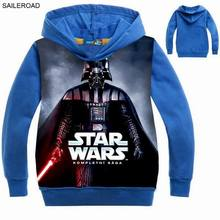 New STAR WARS Children boys outerwear clothing 3-9years old child baby kids boys hooded clothes for Autumn Spring SAILEROAD
