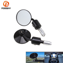 "POSSBAY 7/8"" Universal Motorcycle Bar End Rearview Mirrors for Honda Ducati Aprilia Victory Cafe Racer Retrovisor Moto Mirrors(China)"
