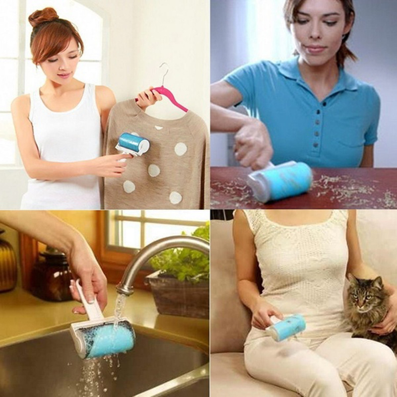 New Useful Reuseable Dust Hair Remover Roller New Clothing Cloth Cleaning Lint Dust Brush(China (Mainland))