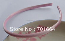 10PCS 7mm light pink satin fabric wrapped plain plastic hair headbands,BARGAIN for BULK kids hair accessories(China)