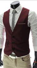 2017 New Arrival Formal Business Vests For Men Slim Fit Mens Suit Vest Male Waistcoat Gilet Homme Casual Sleeveless Jacket Stock(China)