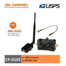 4W 802.11b/g/n 2.4Ghz WLAN Signal Booster with Antenna CF-G103 WiFi signal Booster Amplifier plug and play for Wireless Router(China)