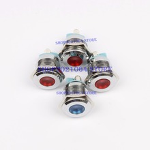 LED Metal Indicator light 16mm waterproof Signal lamp LIGHT 3V 6V 12V 24V 220v screw connect red yellow blue white 16mmXHD.L