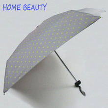 Home Beauty Female Sunny Parasol Lovely Paraguas Mini Pocket Cute picture star Umbrella Rain Women man Folding Umbrellas YS011(China)
