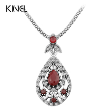HOT 2017 Vintage Jewelry Round Boho Necklace For Women Mosaic Crystal Lucky Star Jewelry Wholesale(China)