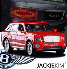 NEW 1:32 Bentley EXP 9F Double Horses Car Model Bentayga SUV Ultra-luxury Car With Pull Back Sound light Kids gift Collection