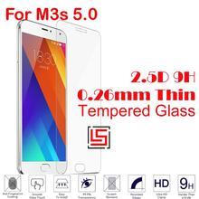 Cheap 0.26mm 2.5D 9H Tempered Glass Cristal Phone Cell Mobile Front Film Screen Ecran Protector For Meizu Meizy Mezu M3s 5.0
