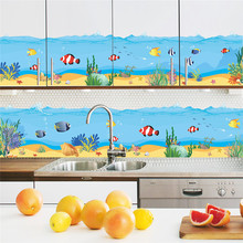 Underwater Fish Bubble Wall Stickers Cartoon Wall Decals Kitchen Bathroom Living Room Bedroom Home Decor PVC 3d Room Decor(China)