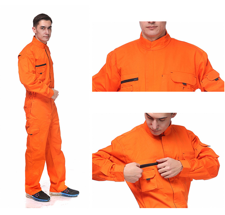 Work Overalls Long Sleeve Working Clothes Dustproof Auto repair Wear-resistant Coveralls Unisex Workwear Solid Color Uniforms (4)