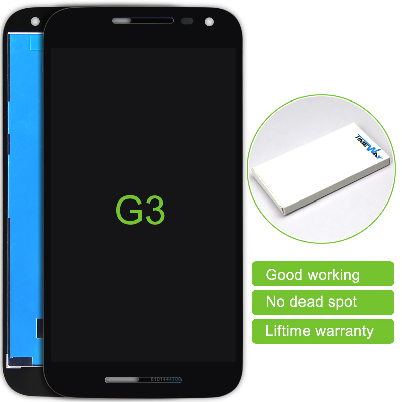 Free shipping 30 pcs/lot Brand new black white for Motorola Moto G3 G 3rd Gen lcd display screen with touch digitizer complete<br><br>Aliexpress