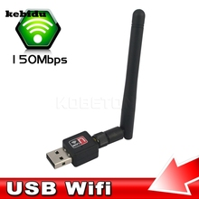 kebidu High Speed Mini PC wifi adapter 150M USB WiFi antenna Wireless Computer Network Card 802.11n/g/b LAN wiht Antenna