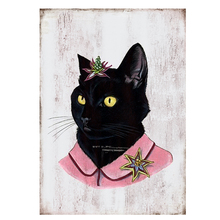 Cat vintage metal signs retro tin plate iron picture the wall decoration for home cafe bar garage