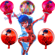 6pcs Cartoon hero Miraculous ladybug party supplies children birthday Party foil balloons princess inflatable toys Wedding gifts(China)