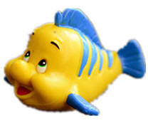 New Arrival Original The Little Mermaid Flounder Cute Fish Figure Toy Doll Birthday Children Gift Decoration(China)
