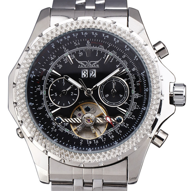 2016 Men Luxury Stainless Steel Watches Calendar Male Clock Army Quality Male Tourbillon Automatic Mechanical Wrist Watch Gift<br>