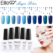 Elite99 10ml UV Gel Nail Polish Blue Color  UV Lamp Soak off Gel Polish Gel Lak 12Pcs Vernis Semi Permanent Gelpolish