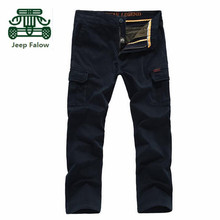 AFS JEEP Falow Original Brand straight Breathe Cargo Pants,100% Cotton Pockets Worker's Working Trousers Pants,Khaki Army Green