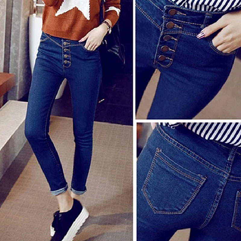 Slim pencil full-length regular cowboy pants 2017 new fashion women jeansОдежда и ак�е��уары<br><br><br>Aliexpress