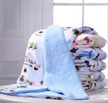 Newborn baby blanket winter autumn kids thick cotton cashmere blanket travel receiving blankets for bed sofa infantil cobertor(China)