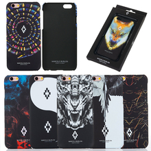New For Coque iPhone 6 6S 7 Plus 5SE Marcelo Burlon Case Tiger Fox Skull PC Funda Case, For iPhone 6 Marcelo Cover Retails Box